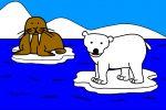 Walrus and Polar Bear