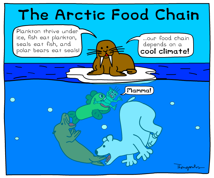 Climate change affects food chain