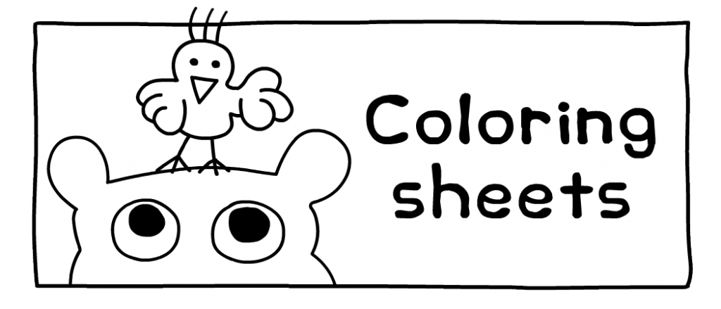 Eco games coloring sheets