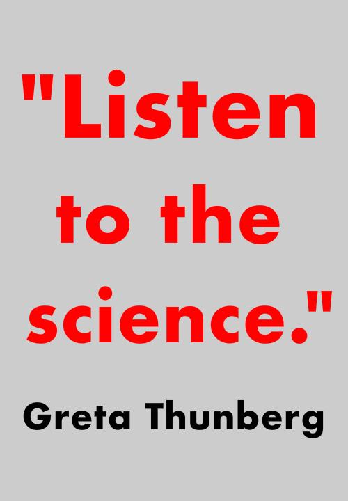 Reduce global warming Greta Thunberg