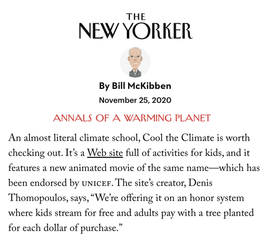 New Yorker for the climate