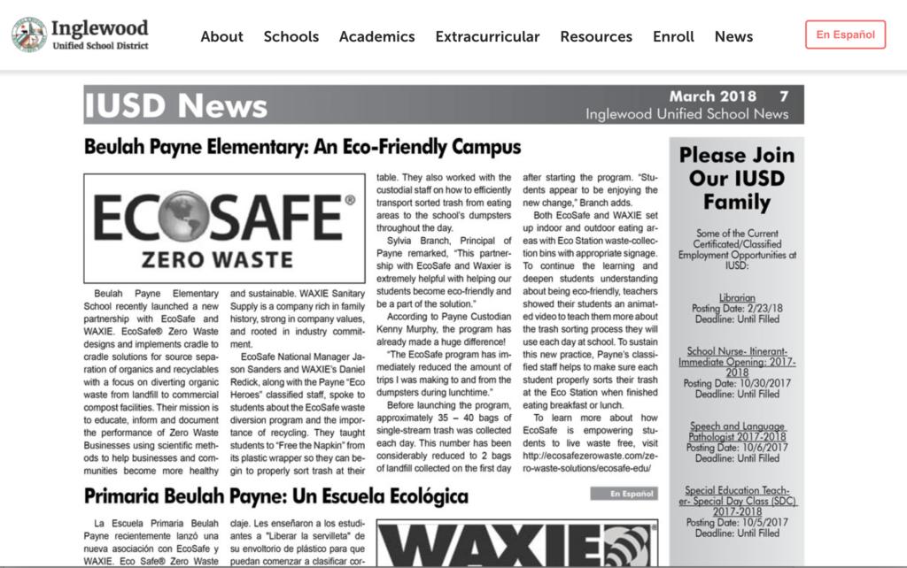 Ecosafe zero wzste Newsletter